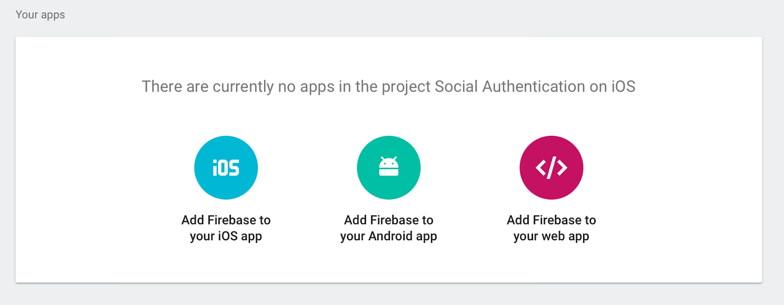 Choose platform for your app  - media 20171127 - Firebase Social Authentication. SignIn with Google Account in Swift.